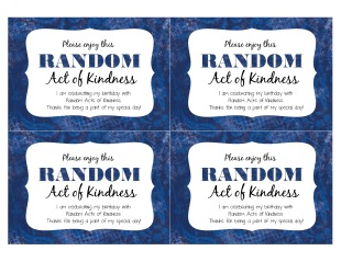 Birthday Random Acts of Kindness Free Printable