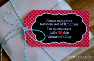 Free printable tag for Valentine's Day